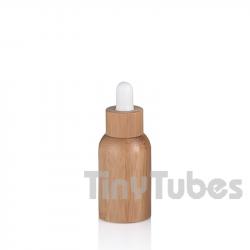 15ml Glasflasche mit Bambusliner