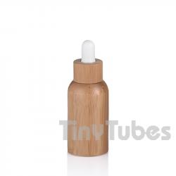 30ml Glasflasche mit Bambusliner