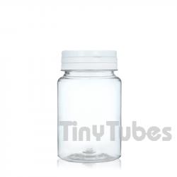 75ml PET Pillendosen mit Scharnierdeckel