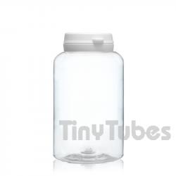 250ml PET Pillendosen mit Scharnierdeckel