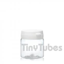 50ml PET Pillendosen mit Scharnierdeckel
