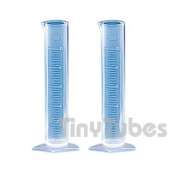 10ml Reagenzglas mit fünfeckigem Boden. Blaue Graduierung